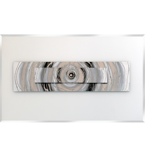 Abstract Spirals on a White Bevelled Mirror - 2 sizes