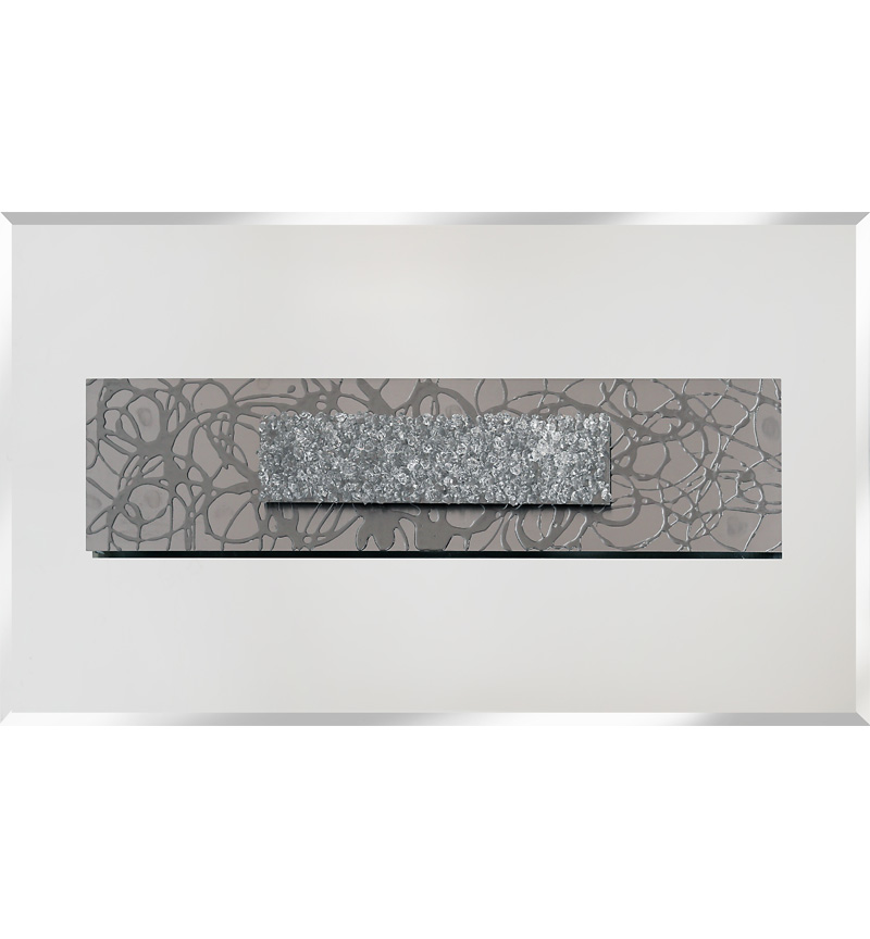 Abstract Silver Mirrored Wall Art 2 sizes