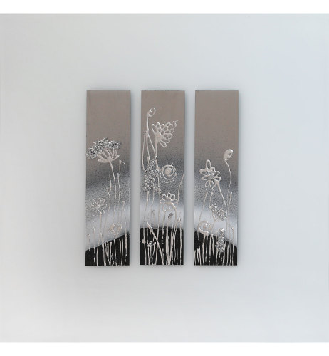 Abstract White Mirrored Wall Art 75cm x 75cm