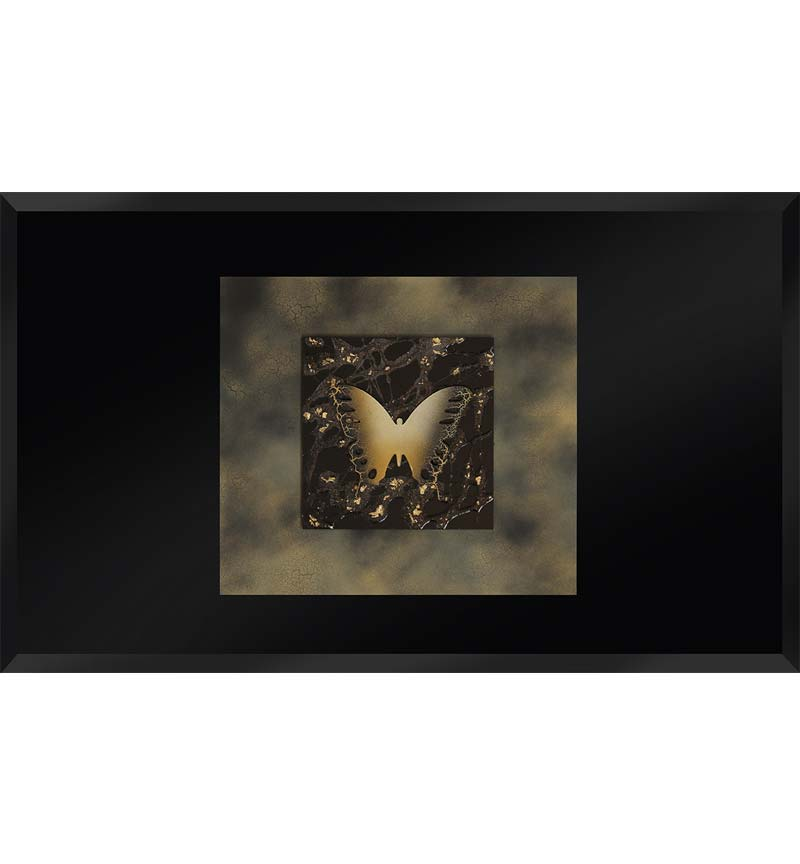 Abstract Black Mirrored Wall Art 2 sizes