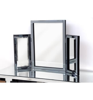Smoked Grey Tri Fold Mirror 78cm X 54cm