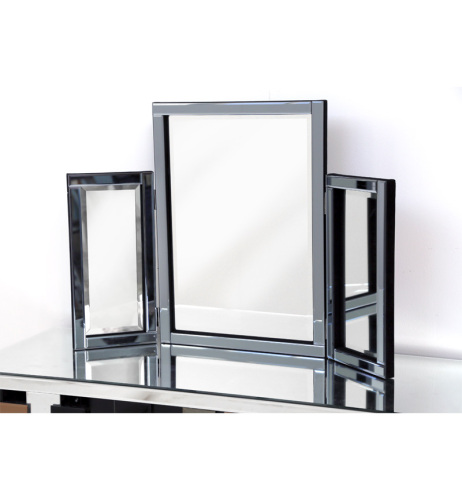 Smoked Grey Tri Fold Mirror 78cm x 54cm