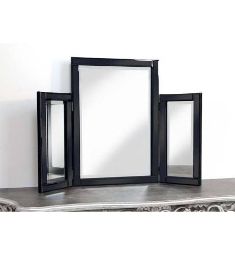 Black Tri Fold Mirror 78cm x 54cm