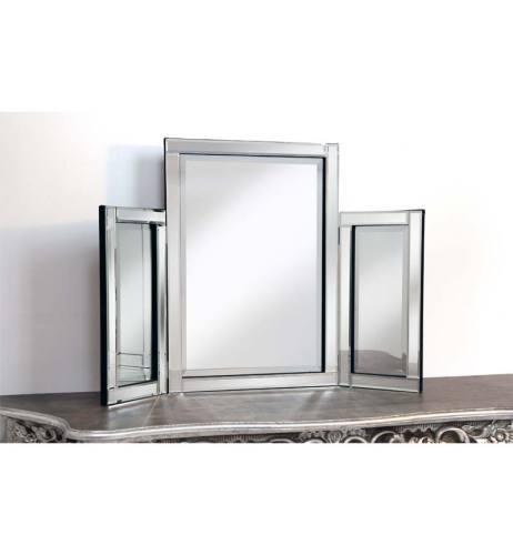 Silver Tri Fold Mirror 78cm x 54cm