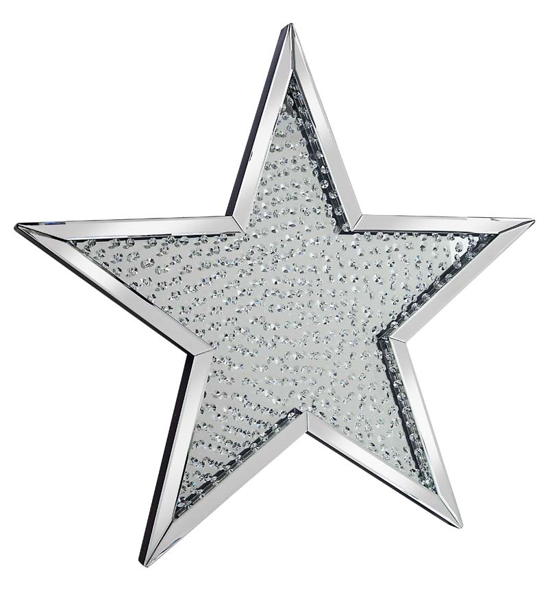 Star Shaped Floating crystals Mirror 94.5cm x 94.5cm