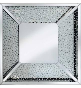 Floating Crystals Square bevelled Mirror 100cm x 100cm