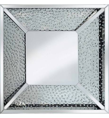 Floating Crystals Square Mirror 100cm x 100cm