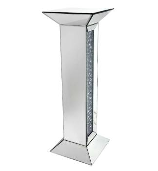 Floating Crystals Mirrored Pedestal Lamp Table 91cm x 30cm x 30cm