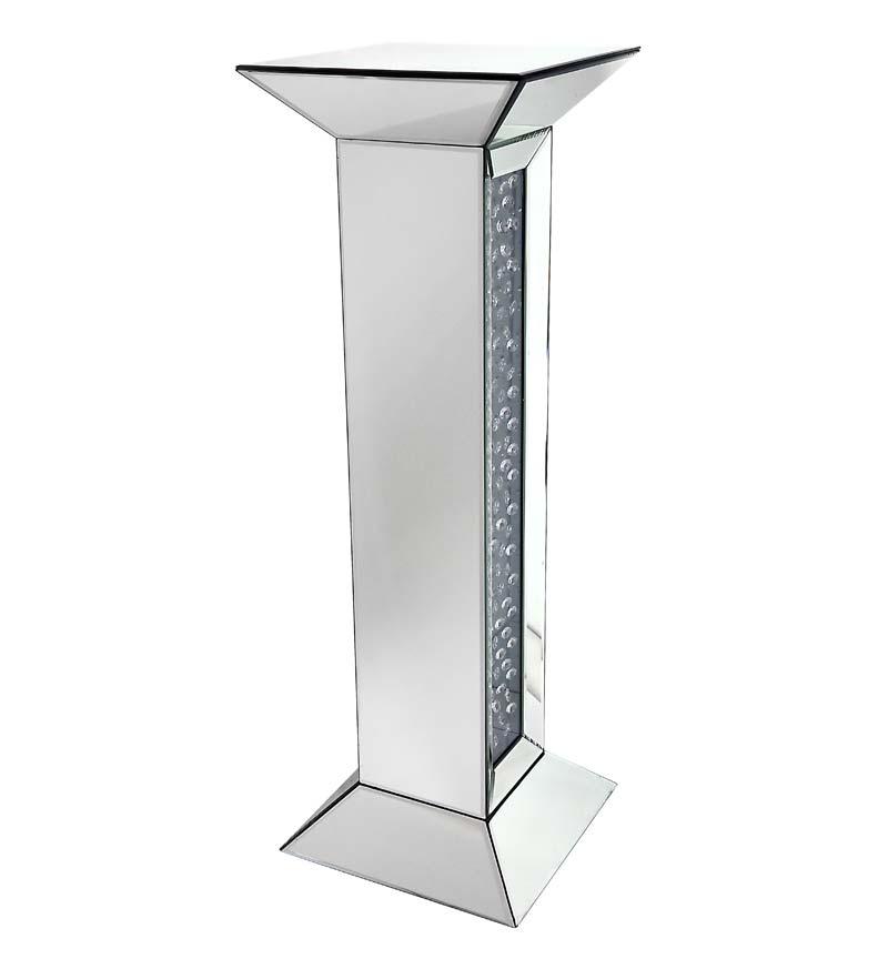 Floating Crystals Mirrored Pedestal 91cm x 30cm x 30cm