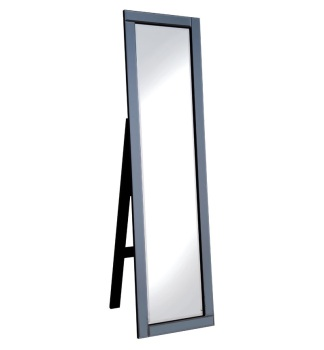 Jenna Smoked Grey bevelled Cheval Mirror 150cm x 40cm