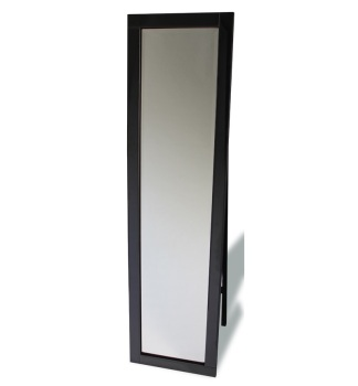 Jenna Black Bevelled Cheval Mirror 150cm x 40cm