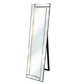 LED Clear - Silver Bevelled Cheval Mirror 158cm x 44cm