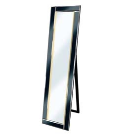 LED Clear - Black Bevelled Cheval Mirror 158cm x 44cm