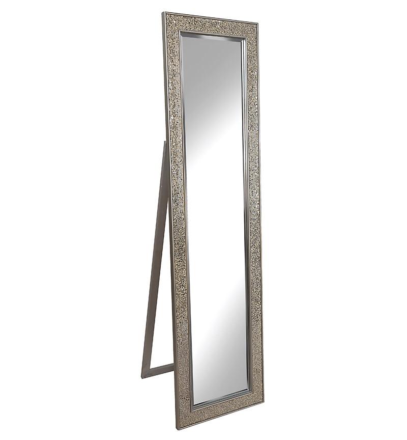 Mosaic SIlver / Champagne Bevelled Cheval Mirror 170cm x 45cm
