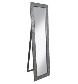 Mosaic SIlver Crush Bevelled Cheval Mirror 170cm x 45cm