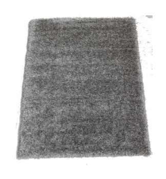 Milan Shaggy Rug in Charcoal Grey