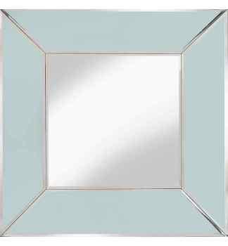 Supreme Modern Box Frame Venetian Bevelled White Mirror 100cm x 100cm