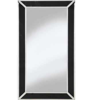Supreme Modern Box Frame Venetian Bevelled Black Mirror 150cm x 80cm