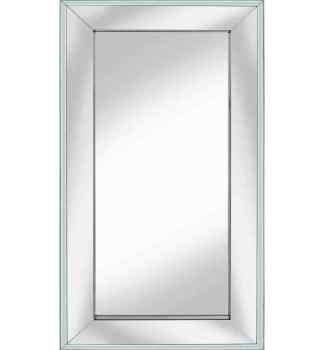 Supreme Box Frame Venetian Bevelled Silver / White Mirror 150cm x 80cm