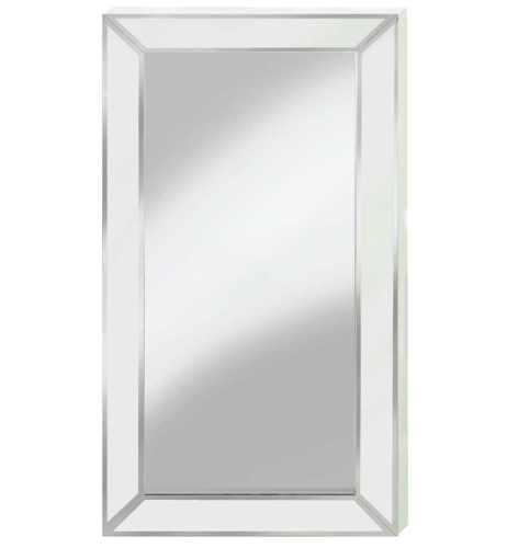 Supreme Modern Box Frame Venetian Bevelled White Mirror 150cm x 80cm