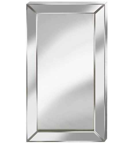 Supreme Modern Box Frame Venetian Bevelled Silver Mirror 150cm x 80cm