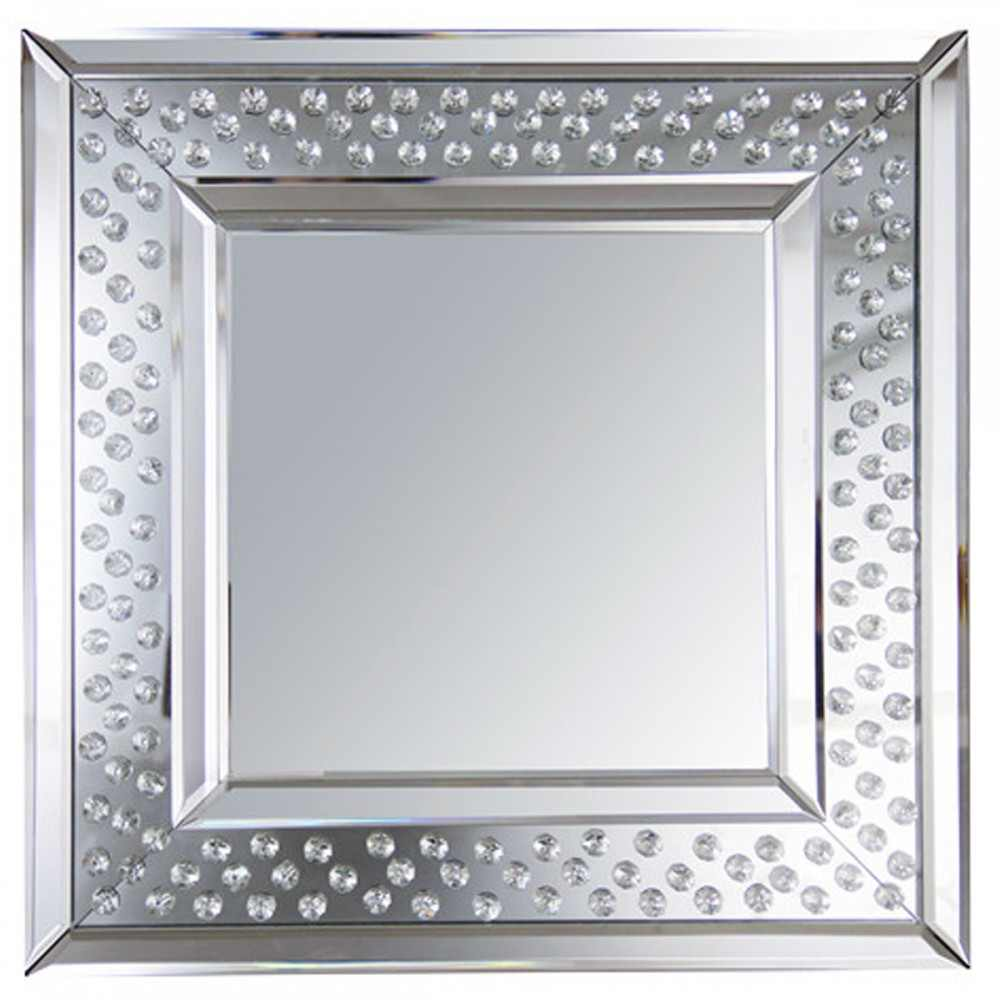Floating Crystals Square Mirror 50cm X Special Offer