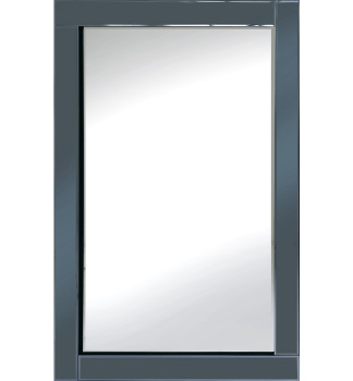 Frameless Bevelled Flat Bar Smoked Grey Mirror 120cm x 80cm