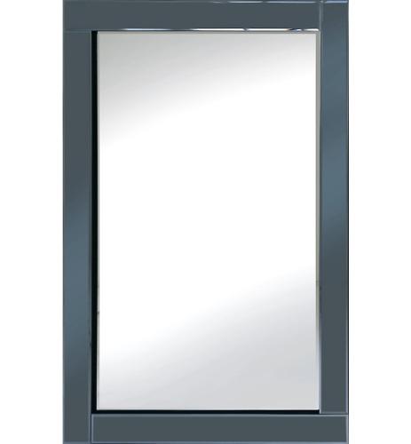 Frameless Bevelled Smoked Grey Mirror 120cm x 80cm