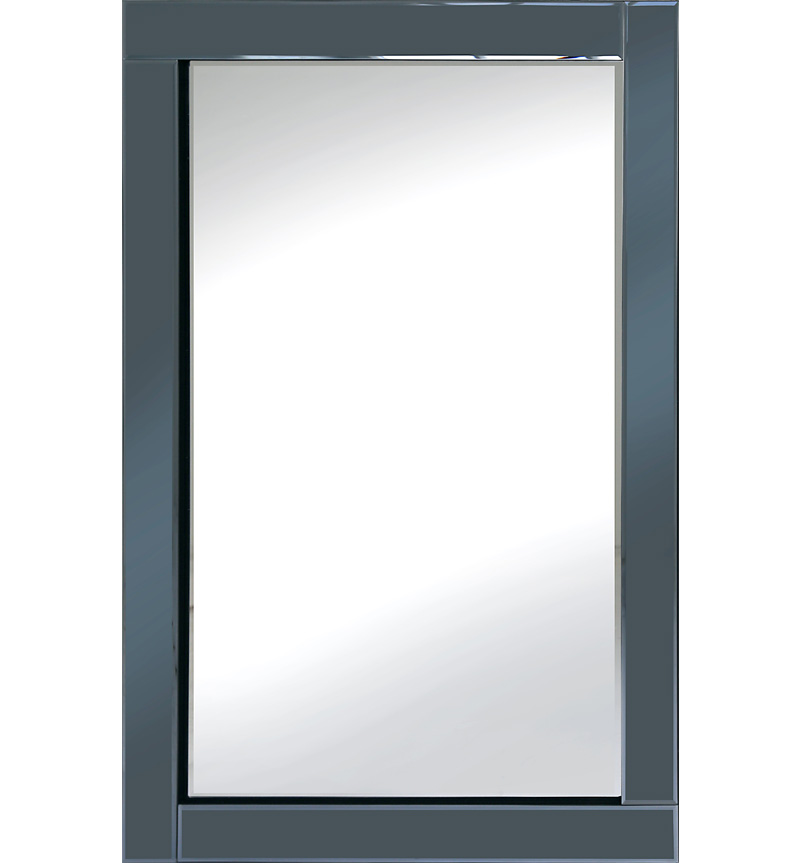 Frameless Bevelled Smoked Grey Mirror 120cm x 80cm