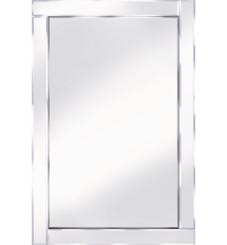 Frameless Bevelled Flat Bar Silver Mirror 120cm x 80cm