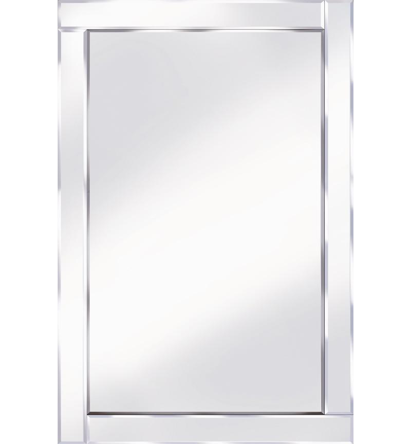 Frameless Bevelled Flat Bar Silver Mirror 120cm x 80cm