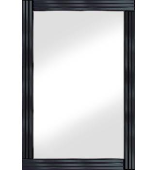 Frameless Bevelled Triple Band Black Mirror 120cm x 80cm