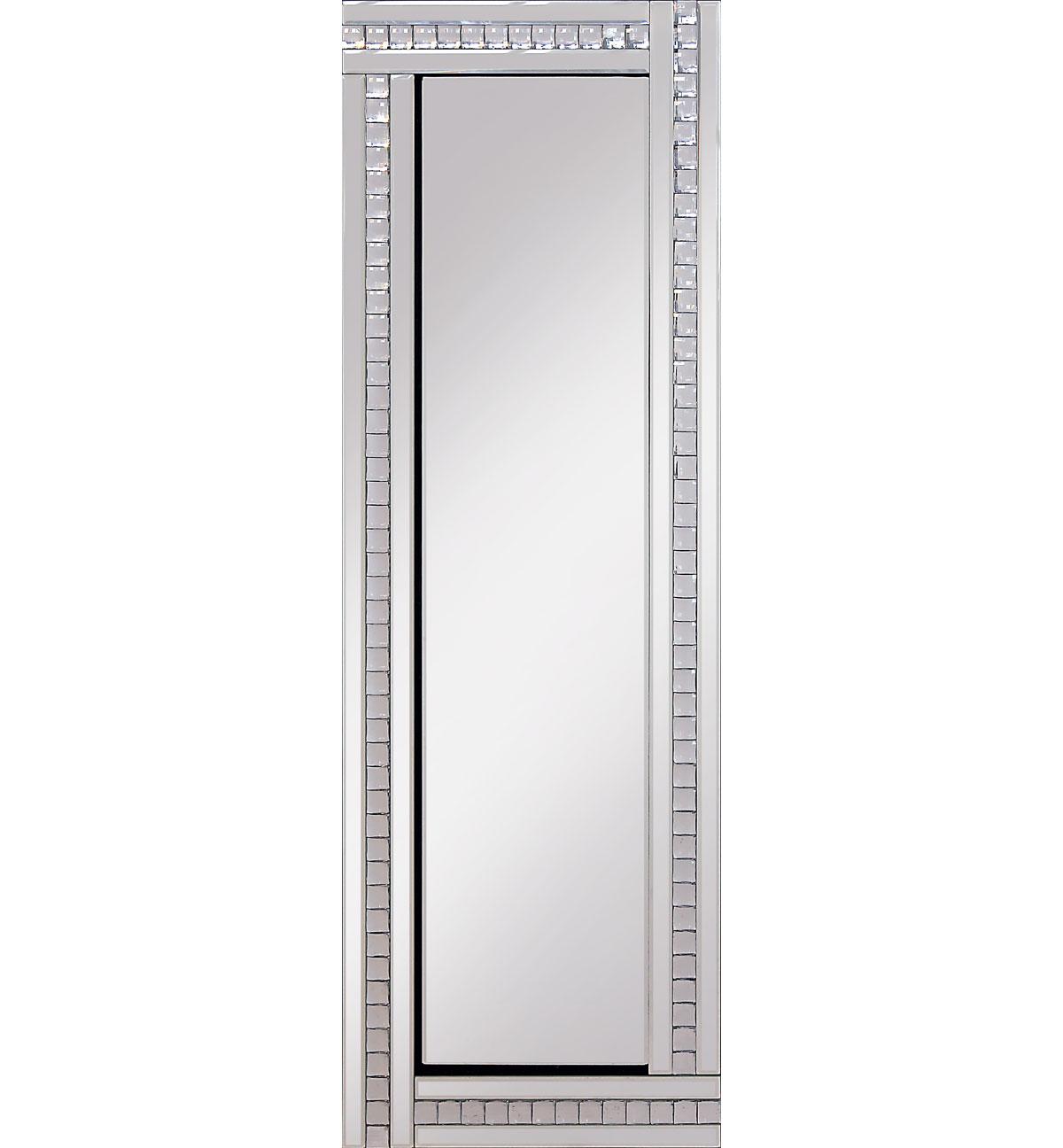 Frameless Bevelled Crystal Border Silver Mirror 120cm X 40cm
