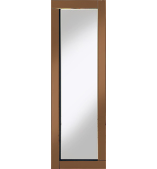 Frameless Bevelled Flat Bar Bronze / Copper Mirror 120cm x 40cm