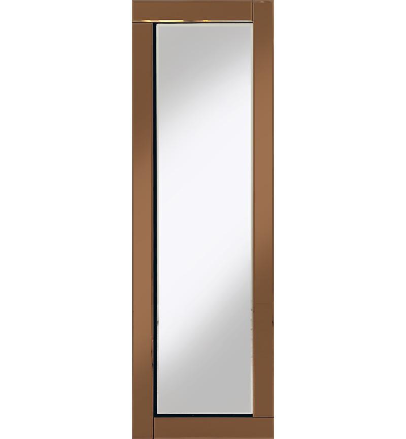 Frameless Bevelled Flat Bar Bronze / Copper Mirror 120cm x 40cm