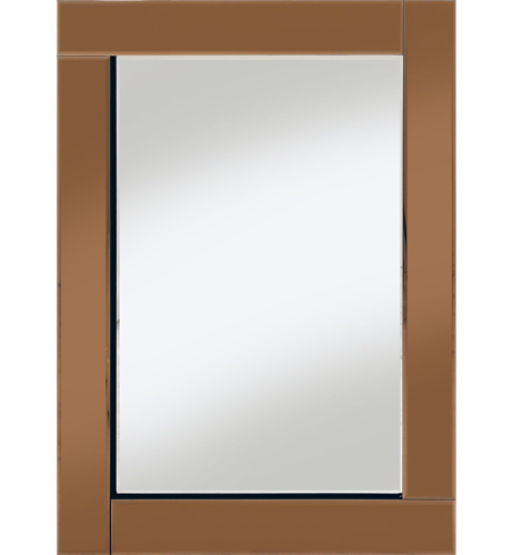 Frameless Bevelled Flat Bar Bronze / Copper Mirror 80cm x 60cm