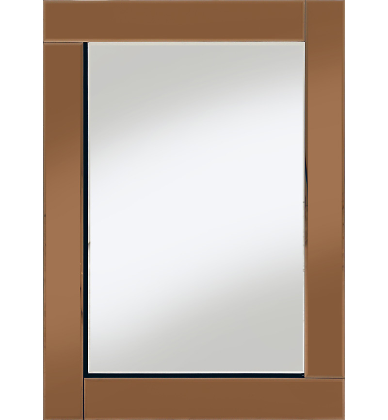 Frameless Bevelled Flat Bar Bronze / Copper Mirror 80cm x 60cm