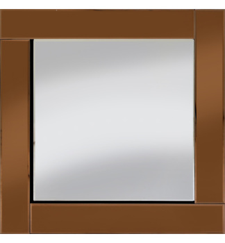 Frameless Bevelled Flat Bar Bronze / Copper Mirror 60cm x 60cm