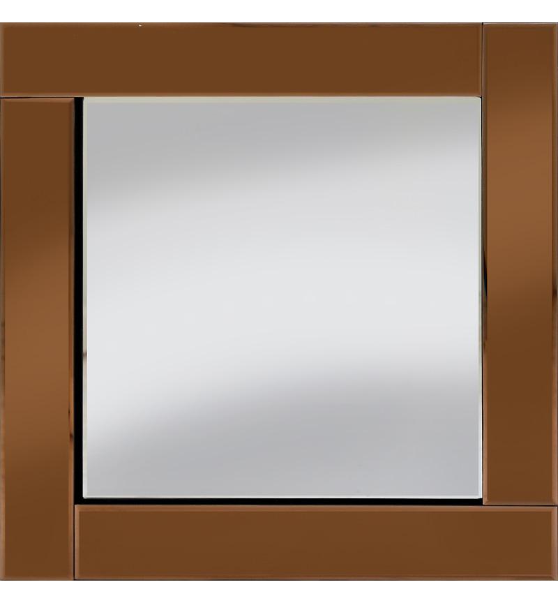 Frameless Bevelled Flat Bar Bronze / Copper Mirror 60cm x 60cm