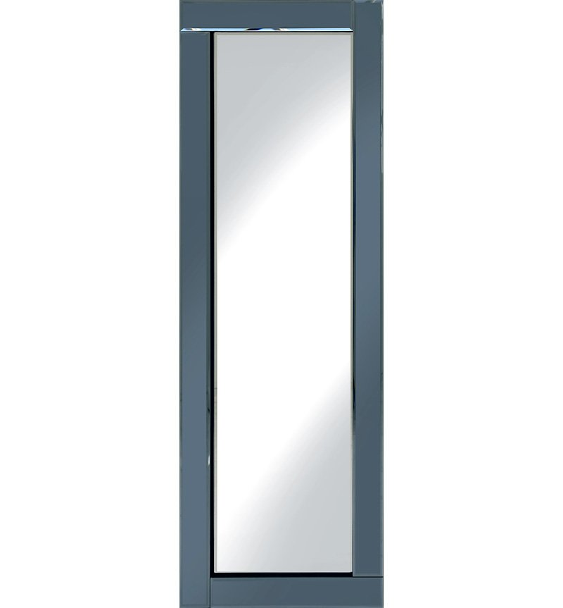 Frameless Bevelled Flat Bar Smoked Grey Mirror 120cm x 40cm