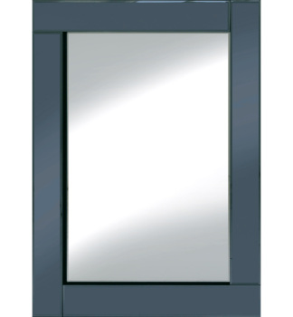 Frameless Bevelled Flat Bar Smoked Grey Mirror 80cm x 60cm