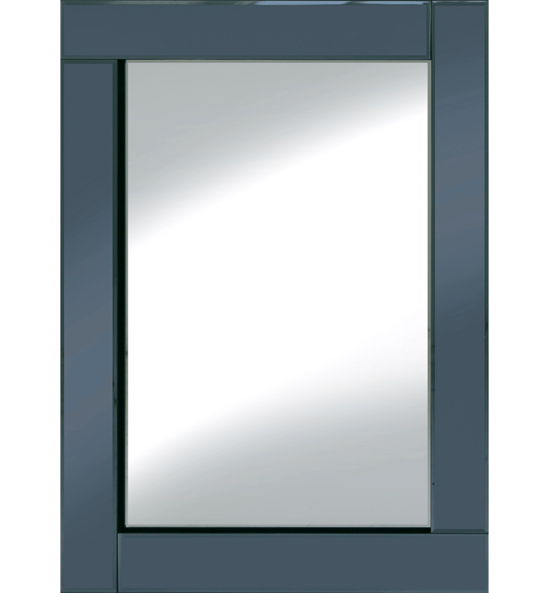Frameless Bevelled Flat Bar Smoked Grey Mirror 80cm x 60cm