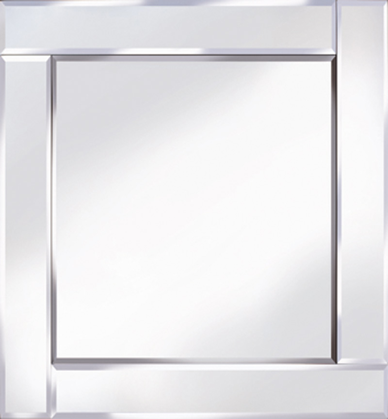 Frameless Bevelled Flat Bar Silver Mirror 60cm x 60cm