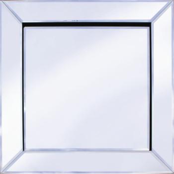 Frameless Bevelled Mitred Corner Silver Mirror 60cm x 60cm