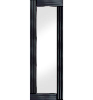 Frameless Bevelled Triple Band Black Mirror 120cm x 40cm