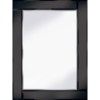 Frameless Bevelled Flat Bar Black Mirror 120cm x 80cm