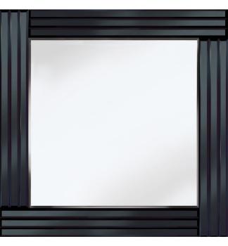 Frameless Bevelled Triple Band Black Mirror 60cm x 60cm