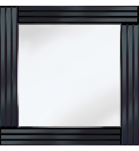 Frameless Bevelled Triple Band Black Mirror 60cm x 60cm
