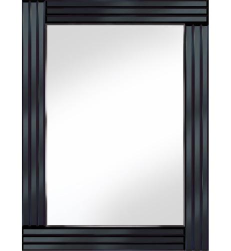 Frameless Bevelled Triple Band Black Mirror 80cm x 60cm