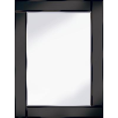 Frameless Bevelled Flat Bar Black Mirror 80cm x 60cm